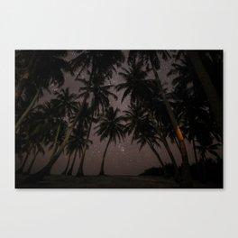 tropical night #society6 #decor #buyart Canvas Print