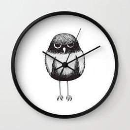 Grumpy Burrowing Owl Sketch Wall Clock