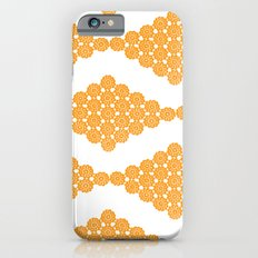 Orange Floral Doily Pattern Slim Case iPhone 6s