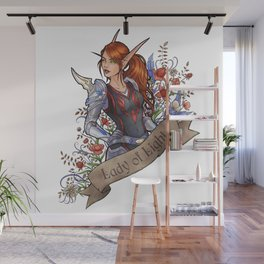 Lady of Light Wall Mural