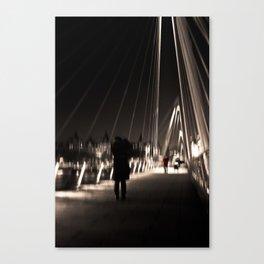 Golden Jubilee Bridge - City of London - UK Canvas Print