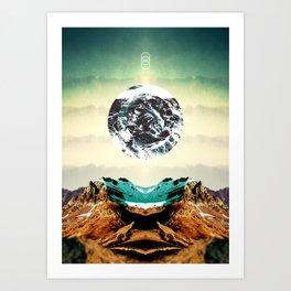 Orbital Sea Art Print