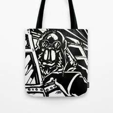 Monkey Pilot Black & White Tote Bag