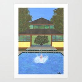Splash! Tropical Villa Art Print