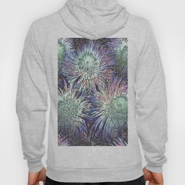 Artfully abstract blooming ice flowers Hoody
