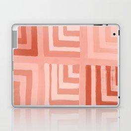 Painted Color Block Squares in Peach Laptop & iPad Skin