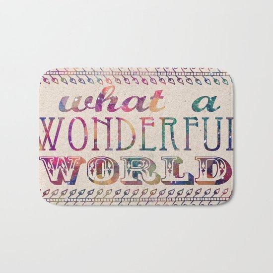 What A Wonderful World Bath Mat