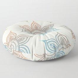 Lotus Mandala (Desert Neutral) Floor Pillow