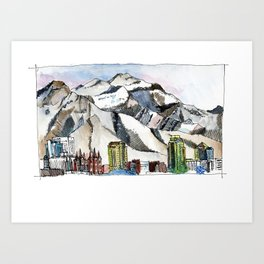 Salt Lake and the Wasatch Front Art Print