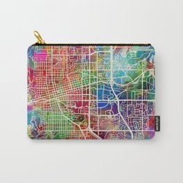 Boulder Colorado City Map Carry-All Pouch