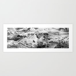 Burning Chrome Art Print