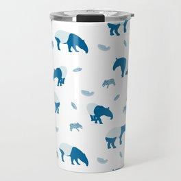 Malayan Tapir In Blue Travel Mug