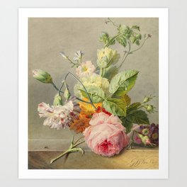 "George Jacobus Johannes van Os ""Floral Still Life"" Art Print"