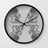 dragons Wall Clocks featuring Dragons. by Dan Minnis