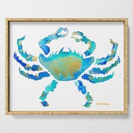 Craggy Blue Crab Serving Tray