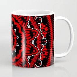 Mandala 009 Red White Black Coffee Mug