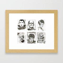 Monsters of Horror Classics Framed Art Print