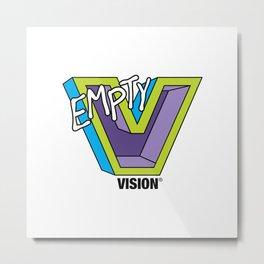 Empty V (purple) Metal Print