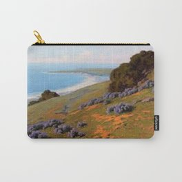 Bush Lupine and Poppies, Santa Barbara by John Marshall Gamble Carry-All Pouch