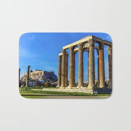 ruins of ancient temple of Zeus, Athens, Greece, HDR photo Bath Mat