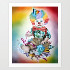 I DON'T Wanna be a Clown Art Print