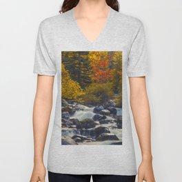 Autumn River II Unisex V-Neck