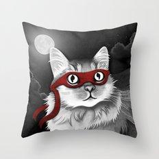 Mr. Meowgi Throw Pillow