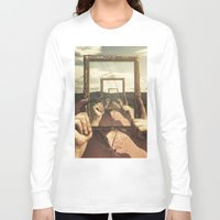 frame Long Sleeve T-shirts featuring Empty Frame by Seamless