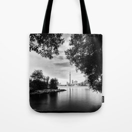 Toronto Black and White Tote Bag