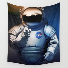 NASA Wants You Vintage Poster from 70s Moon Astronaut Artwork For Prints Posters Tshirts Bags Men Wo Wall Tapestry