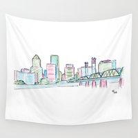 portland Wall Tapestries featuring Portland by Ursula Rodgers