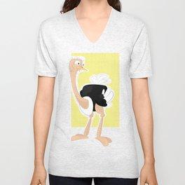 Not so mentally stable ostrich Unisex V-Neck