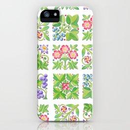 Tudor Flowers iPhone Case
