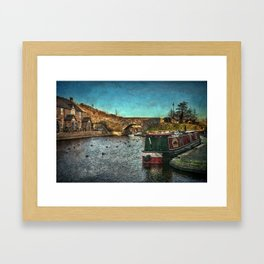 Brecon Canal Basin in Winter Framed Art Print