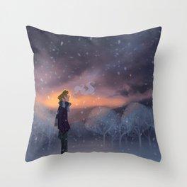 Ten Thousand Snowflakes Throw Pillow