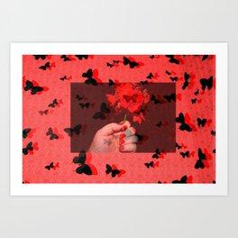 Just Rosey Art Print