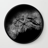 hare Wall Clocks featuring Hare by hardy mayes