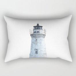Lighthouse Illustration Rectangular Pillow