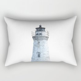 Lighthouse Illustration Rectangular Pillow