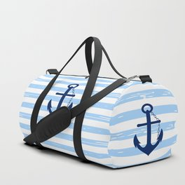 AFE Nautical Blue Ship Anchor Duffle Bag