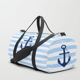 AFE Nautical Blue Ship Anchor Duffle Bag