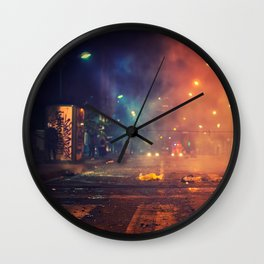 Nights of protest - Venezuela Wall Clock