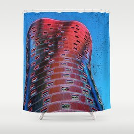 Torre Fira bcn Shower Curtain