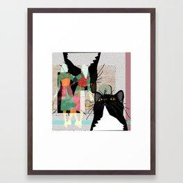 Kats Visit Museum Framed Art Print