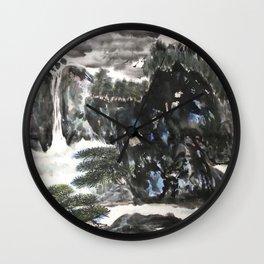 AU 21 - Clear Water & Moonlight Wall Clock