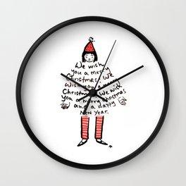 Merry Merry Wall Clock