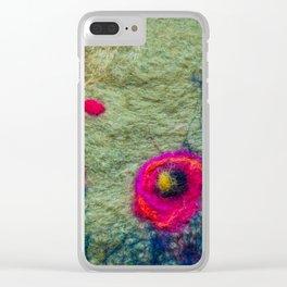 Poppy Field in Felt Clear iPhone Case