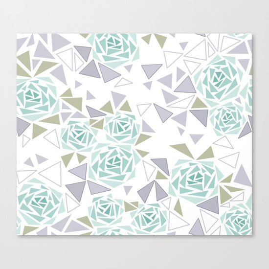 Modern . Geometric pattern . Rose .2 Canvas Print