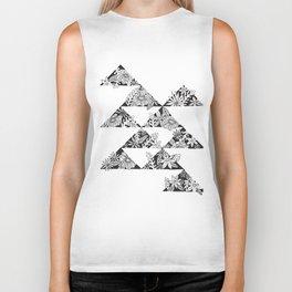 botanical triangles Biker Tank
