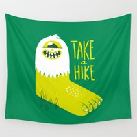 cyclops Wall Tapestries featuring Advice Bigfoot by Morkki